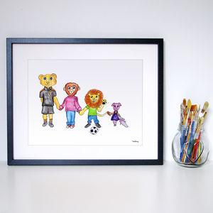Choose Your Own Spirit Animals Family Portrait - paintings