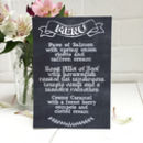 Chalk Wedding Breakfast Menu Card