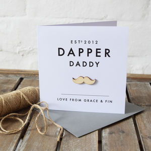 Personalised Dapper Beard Moustache Card