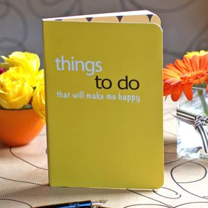Things That Make Me Happy Notebook