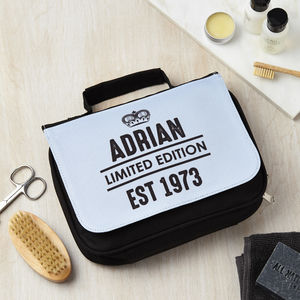 Personalised Limited Edition Wash Bag