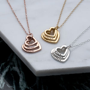 Personalised Family Names Heart Necklace - necklaces & pendants