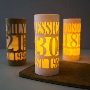 Personalised 30th Birthday Lantern Centrepiece