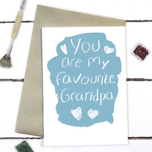 You Are My Favourite Grandpa Father's Day Card - what's new