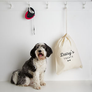 Personalised Pet Storage Bag - food, feeding & treats