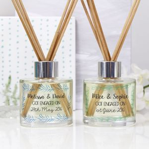 Personalised Engagement Reed Diffuser Gift Set - engagement gifts