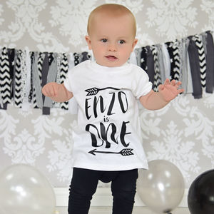 Personalised Arrow Birthday T Shirt - gifts for babies