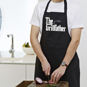 Personalised 'The Grillfather' Apron - aprons