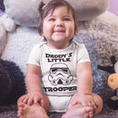 Daddy's Little Trooper Babygrow