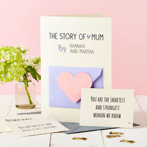 'The Story Of Mum' Secret Messages Card - cards & wrap sale