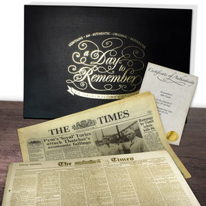 Keepsake Newspaper Gift Set