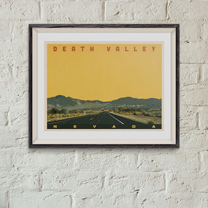 Death Valley Vintage Style Travel Print - posters & prints