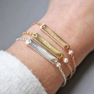 Personalised Bridesmaid Name Bracelet
