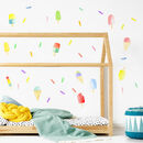 Watercolour Sprinkle Fabric Wall Stickers