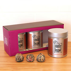Flowering Tea Triple Selection Gift Box
