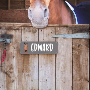 Personalised Stable Door Name Plate Horse Head - gifts for pets