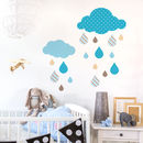 Wall Sticker Rain Cloud Set