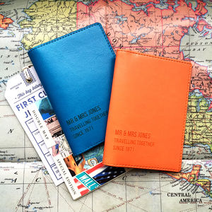 Mr And Mrs Personalised Passport Cover - travel & luggage
