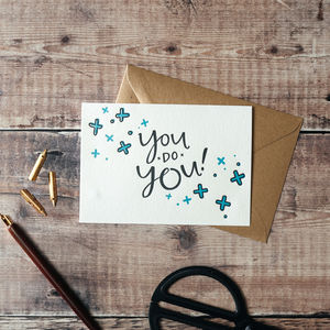'You Do You' Letterpress Card - shop by category