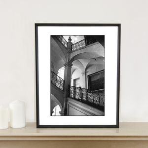 Girl On Staircase, France Photographic Art Print