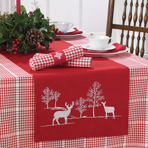 Red Reindeer Table Runner - kitchen