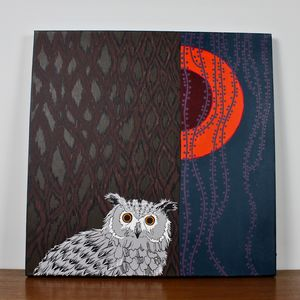 Owl Painting - winter sale
