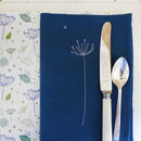 Embroidered Cow Parsley Cotton Napkins