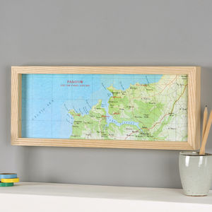 Padstow Hand Drawn Map Location Print - posters & prints