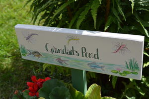 Dragonfly Pond Sign - art & decorations