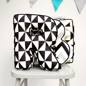 Personalised Monochrome Letter Cushion