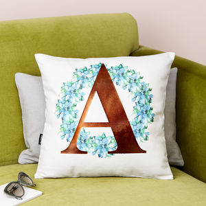 Cacti Wreath Metallic Letter Cushion