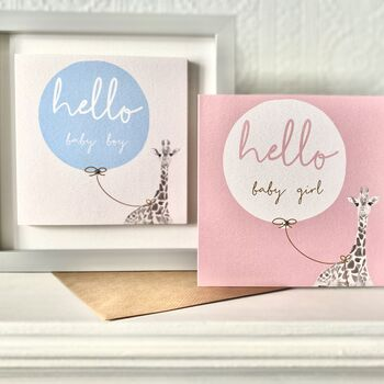 'Hello Baby' Boy Or Girl New Baby Card