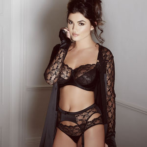 Black Silk And French Lace Sophia Bra