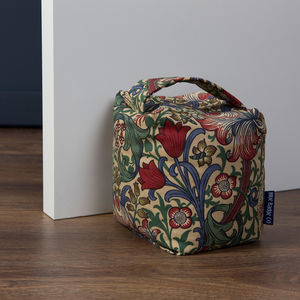 Fabric Door Stop In William Morris Golden Lily - door stops & draught excluders