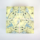 Gift Wrapping Paper Lemon And Grey Birds