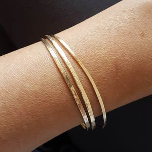 Personalised Gold Filled Bangle - bracelets & bangles