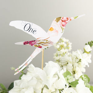 Floral Affair Hummingbird Table Numbers