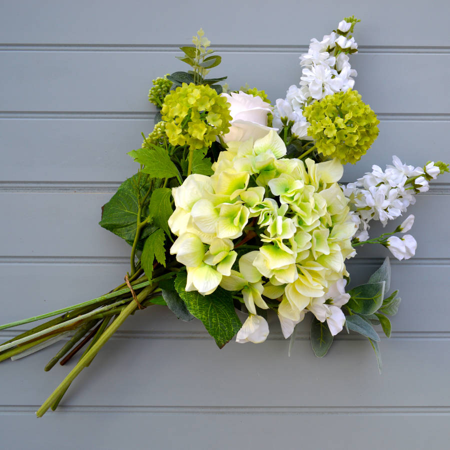 Contemporary Hand Tied Faux Flower Bouquet By Hannah