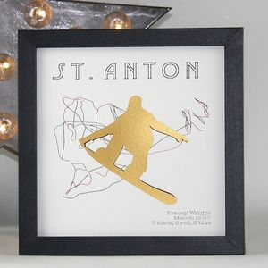 Personalised Sk/Snowboard Run Framed Print