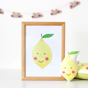 Lemon Nursery Print