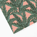 Pink Tropical Banana Leaf Wrapping Paper