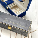 Personalised Jewellery Box In Velvet