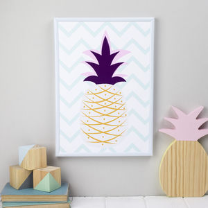 Colourful Pineapple Print