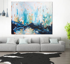 Original Art Large Abstract Painting Canvas Art - canvas prints & art