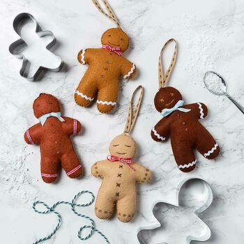 Gingerbread Men Felt Kit