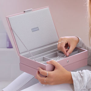 Soft Pink Classic Jewellery Box - jewellery storage & trinket boxes