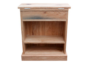 British Made Oak And Iron Charging Hall Stand - bookcases