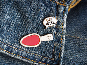 Get Well Soon Enamel Pin Badges