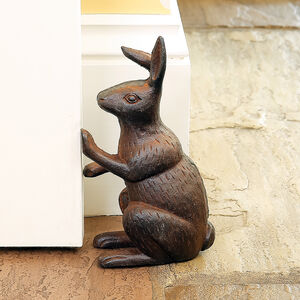 Woodland Hare Country Style Cast Iron Doorstop