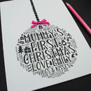 Mummy's First Christmas Daughter Bauble Card